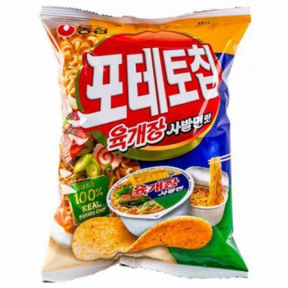 【農心】ポテトチップス(ユッゲジャンサバル味)60g*1個