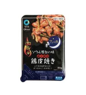 【冷凍】【チョンジョンウォン】アンジュ夜 激旨辛 鶏皮焼き 80g*1個