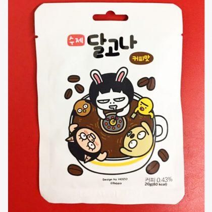 【昔お菓子】韓国式カルメ焼き ダルゴナ-コーヒー味