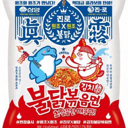 【三養+JINROコラボ】 キムチ味ブルダック火鶏炒め麺*1個