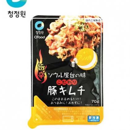 【冷凍】【チョンジョンウォン】アンジュ夜 旨辛豚キムチ 70g*1個