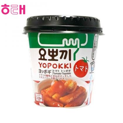 【HAITAI】ヨポキートマト味 もちもち食感たまらない味即席簡単カップトッポキ1個