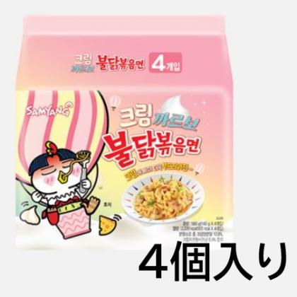 【三養】クリームカルボブルダック炒め麺140g*4個入り