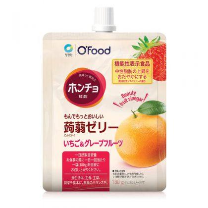 【ofood】ホンチョおいしいお酢の蒟蒻ゼリー・いちご&グレープフルーツ*1個