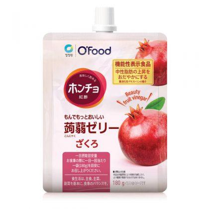 【ofood】ホンチョおいしいお酢の蒟蒻ゼリー・ざくろ*1個
